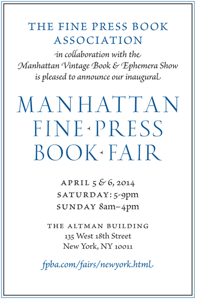FPBA-Manhattan Fine Press Book Fair