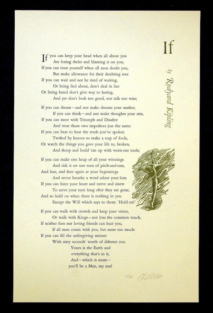 If, by Rudyard Kipling