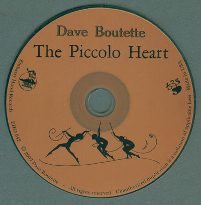 The Piccolo Heart CD design