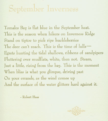 Robert Hass broadside