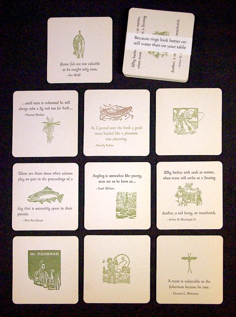 fishing coasters