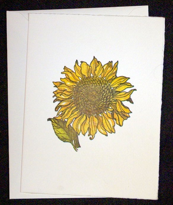 Large sunflower card
