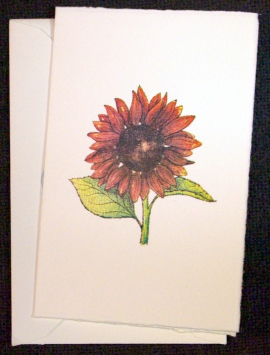 small sunflower card