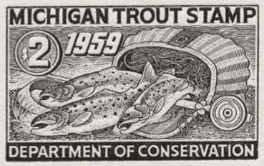 1959 MI trout stamp