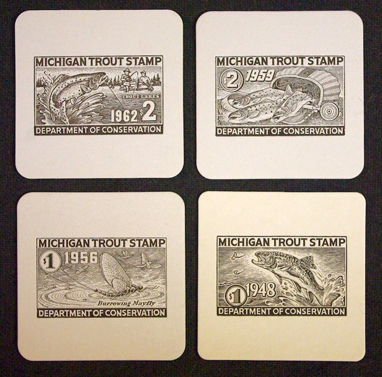 Trout Stamp Coasters